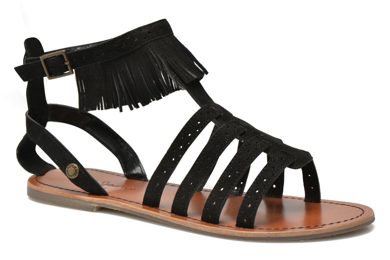 Sandalias Pepe jeans Jane fringes Negro vista de detalle / par