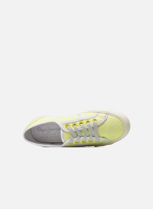 Trainers Pepe jeans Baker fluor Yellow view from the left