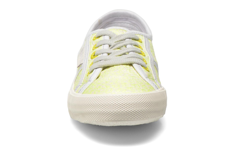 Sneaker Pepe jeans Baker fluor gelb schuhe getragen