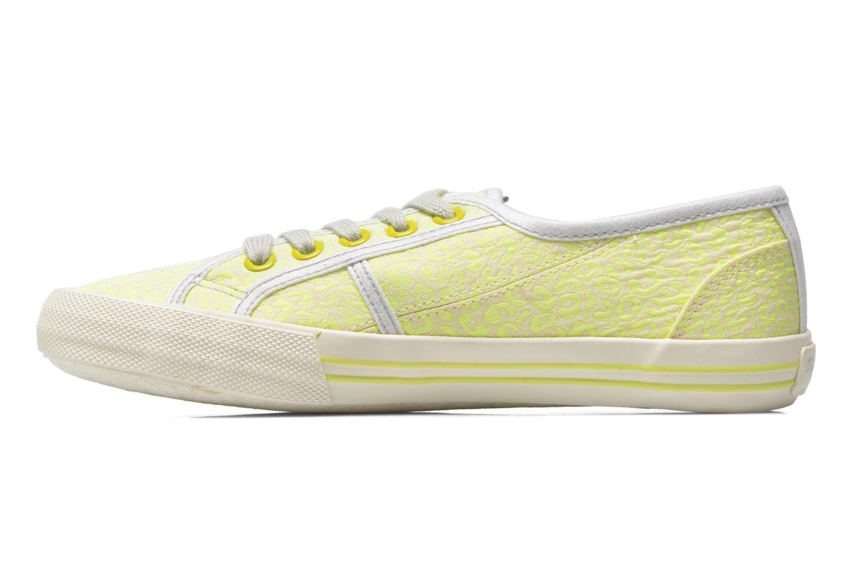 Sneaker Pepe jeans Baker fluor gelb ansicht von vorne