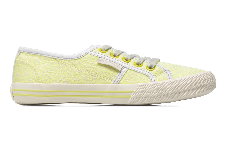 Sneaker Pepe jeans Baker fluor gelb ansicht von hinten