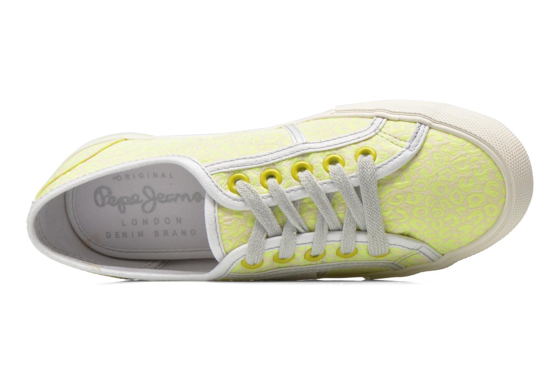 Sneaker Pepe jeans Baker fluor gelb ansicht von links