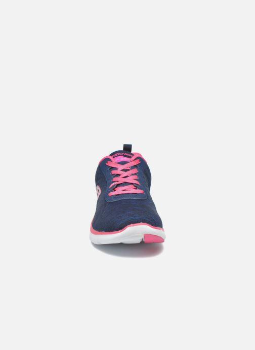 Baskets Skechers Flex Appeal 2.0 Bleu vue portées chaussures