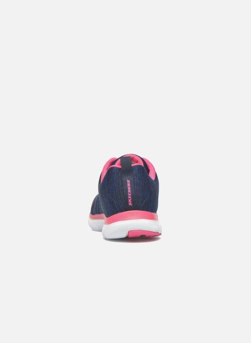 Baskets Skechers Flex Appeal 2.0 Bleu vue droite