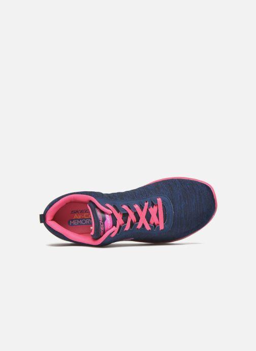 Sneaker Skechers Flex Appeal 2.0 blau ansicht von links