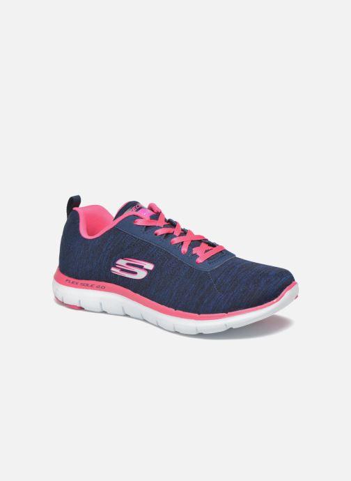 Sneakers Skechers Flex Appeal 2.0 Blå detaljerad bild på paret