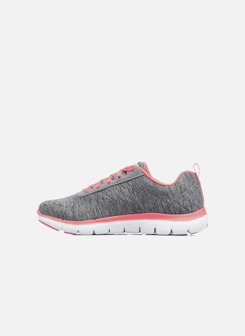 Baskets Skechers Flex Appeal 2.0 Gris vue face