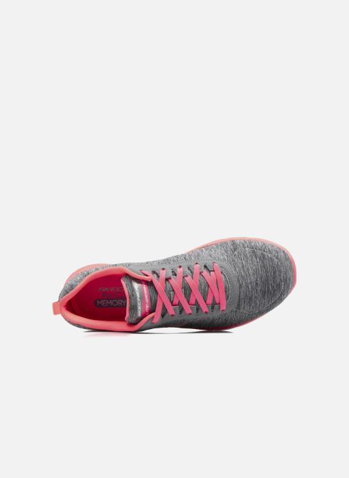 Baskets Skechers Flex Appeal 2.0 Gris vue gauche