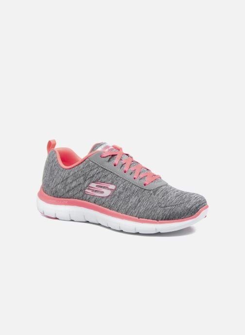 Baskets Skechers Flex Appeal 2.0 Gris vue détail/paire