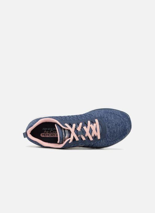 Sneakers Skechers Flex Appeal 2.0 Blå bild från vänster sidan