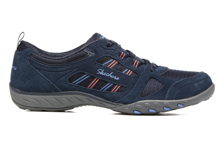 Sneaker Skechers Breathe-Easy - Good blau ansicht von hinten