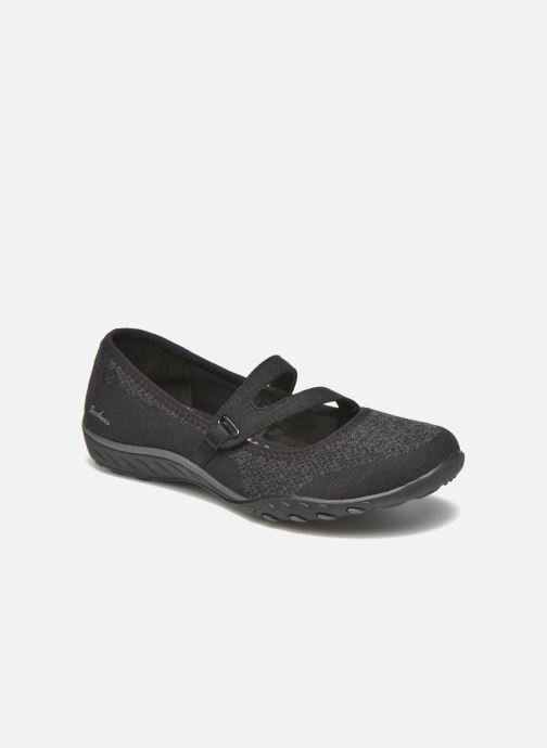 96d79eb0fc2 Ballet pumps Skechers Breathe-Easy - Lucky Black detailed view  Pair view