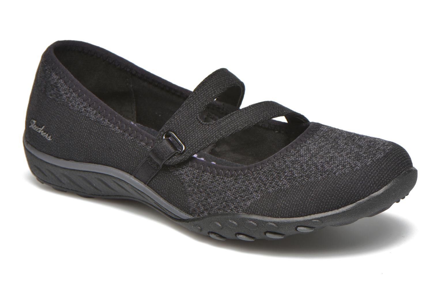 Bailarinas Skechers Breathe-Easy - Lucky Negro vista de detalle / par