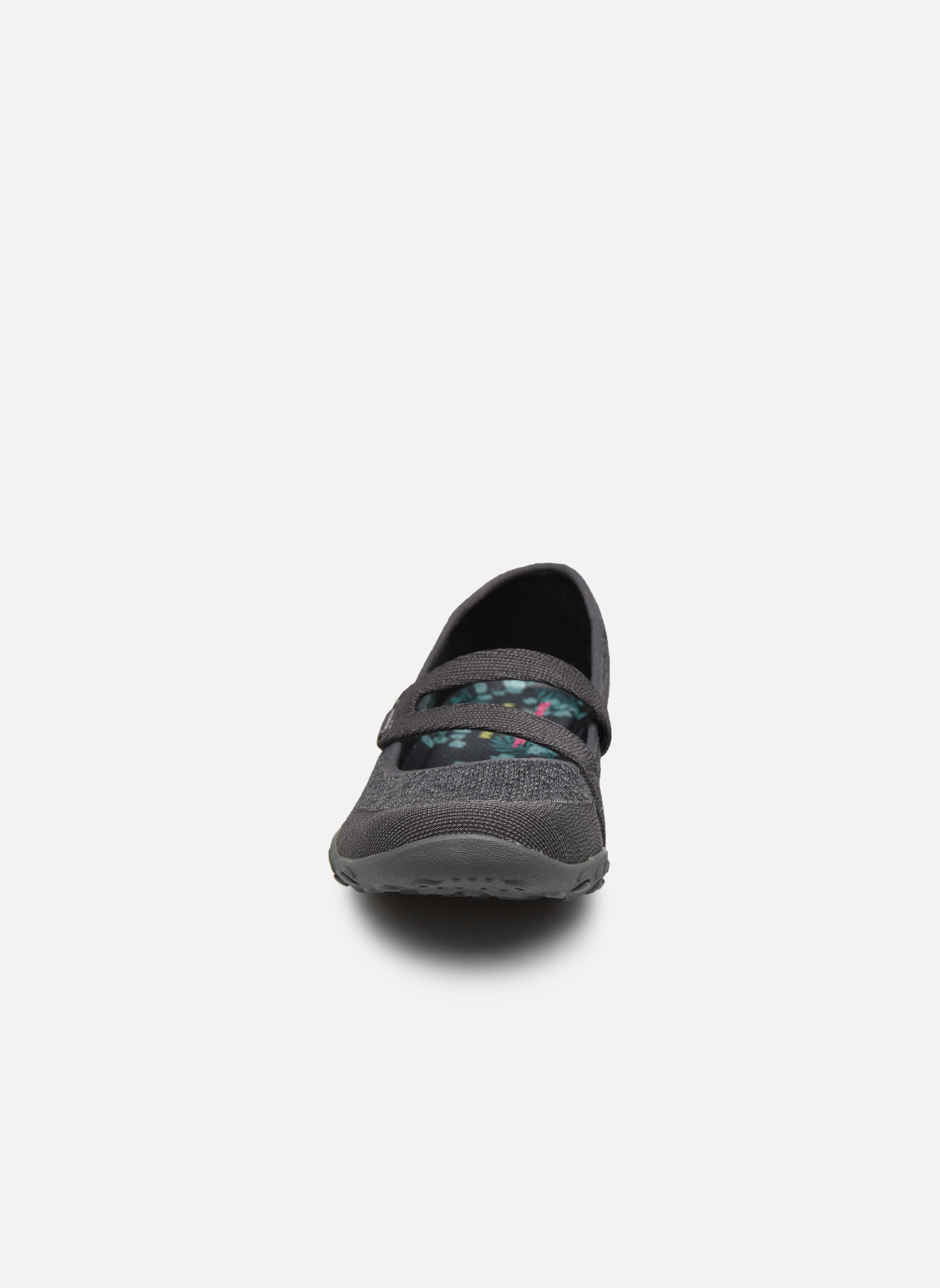 Ballerines Skechers Breathe-Easy - Lucky Gris vue portées chaussures