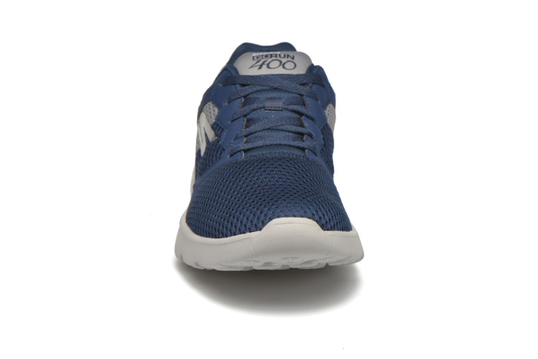 Sportschuhe Skechers Go run 400 blau schuhe getragen