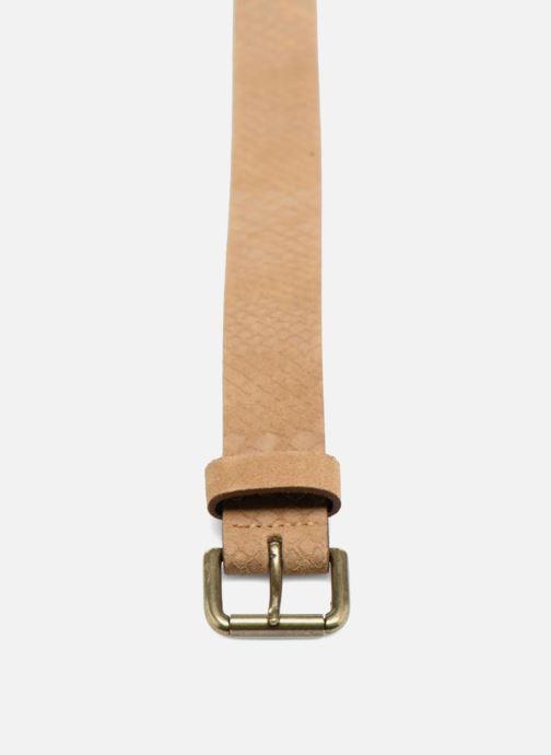 Cinturones Bensimon Ceinture croûte de cuir Beige vista del modelo