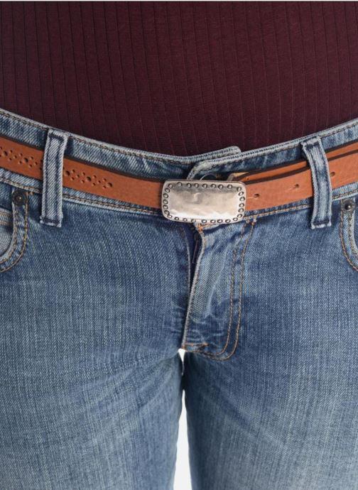 Cinturones Bensimon Ceinture perforée cuir 1 Marrón vista de arriba