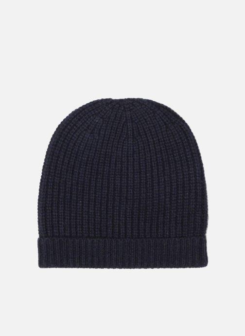 Bonnets Bensimon Bonnet tricoté laine cachemire Bleu vue portées chaussures