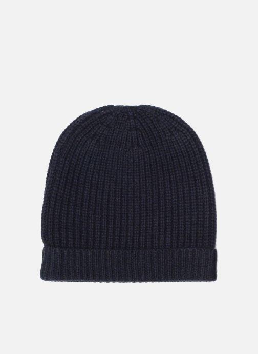 Bonnets Bensimon Bonnet tricoté laine cachemire Bleu vue détail/paire