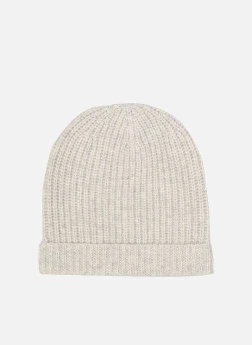 Bonnets Bensimon Bonnet tricoté laine cachemire Gris vue détail/paire