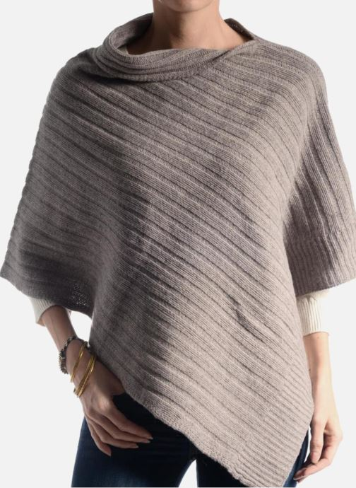 Miscellaneous Bensimon Poncho laine cachemire Blue view from above