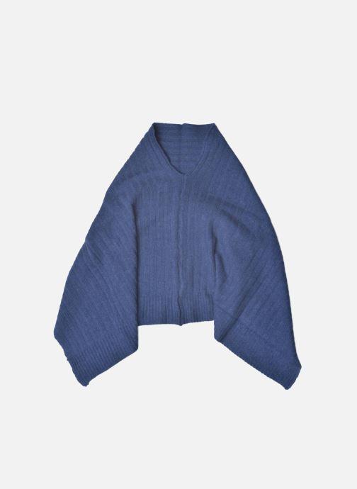 Miscellaneous Bensimon Poncho laine cachemire Blue detailed view/ Pair view