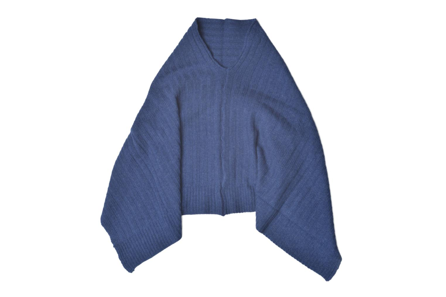 Miscellaneous Bensimon Poncho laine cachemire Blue detailed view/ Pair view