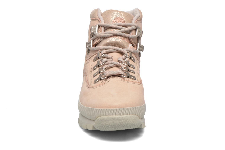 Zapatos con cordones Timberland Euro Hiker Leather Rosa vista del modelo