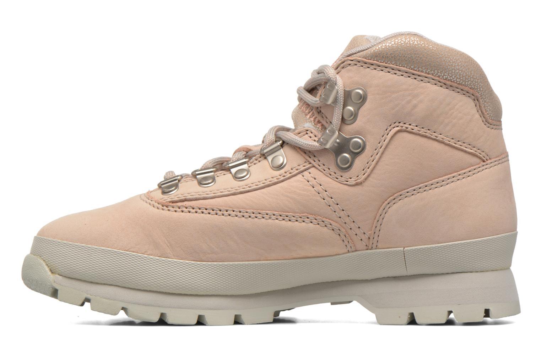 Zapatos con cordones Timberland Euro Hiker Leather Rosa vista de frente