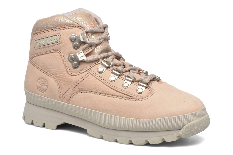 Zapatos con cordones Timberland Euro Hiker Leather Rosa vista de detalle / par