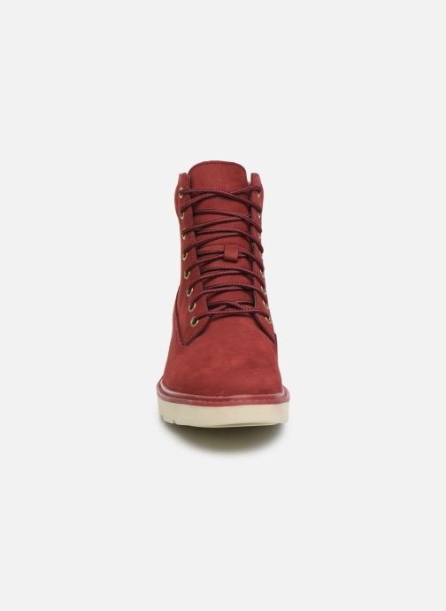 Bottines et boots Timberland Kenniston 6in Lace Up Rouge vue portées chaussures