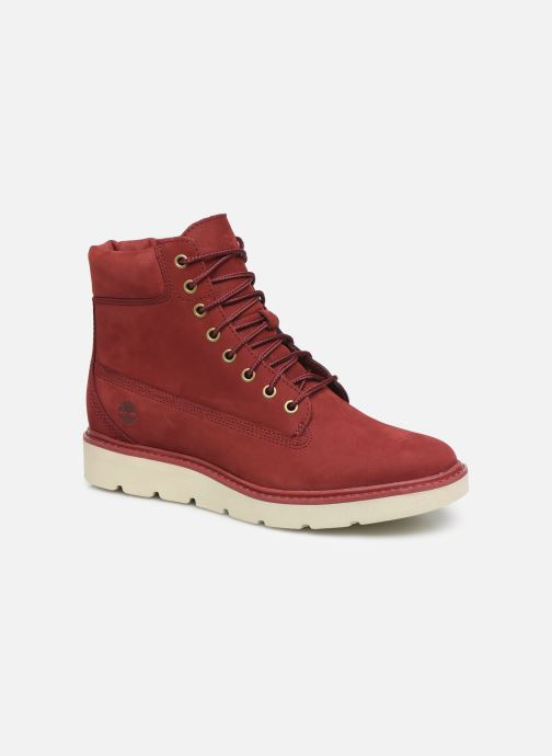 Ankle boots Timberland Kenniston 6in Lace Up Red detailed view/ Pair view