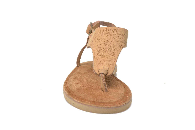 Sandales et nu-pieds Coolway Samy Beige vue portées chaussures