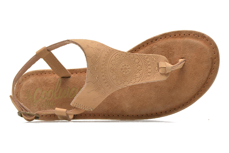 Sandales et nu-pieds Coolway Samy Beige vue gauche