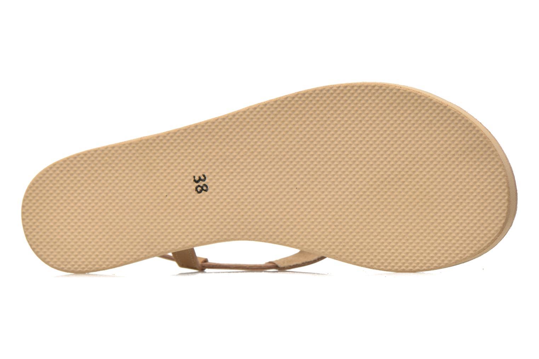 Sandales et nu-pieds Coolway Samy Beige vue haut