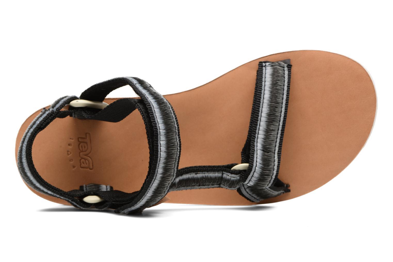 Sandales et nu-pieds Teva Original Universal Ombre Noir vue gauche