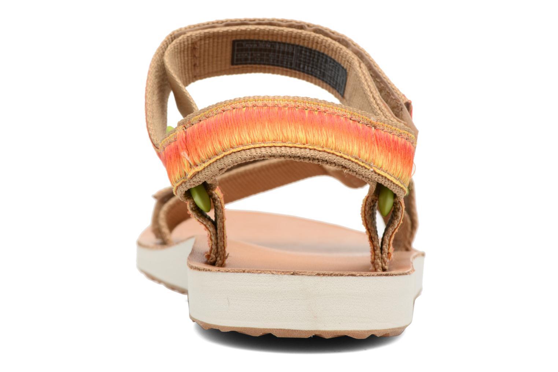 Sandales et nu-pieds Teva Original Universal Ombre Orange vue droite