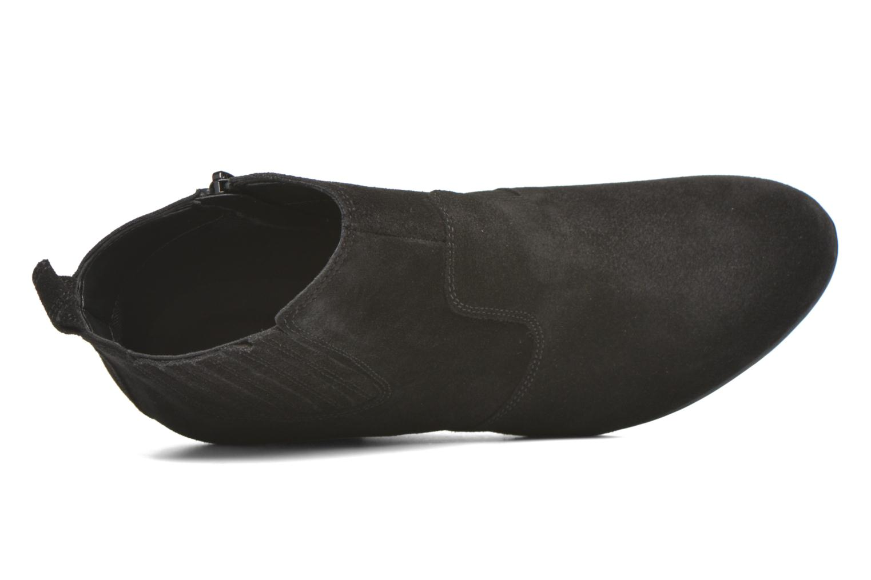 Bottines et boots Vero Moda Lone Leather Wedge Boot Noir vue gauche