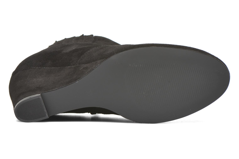 Bottines et boots Vero Moda Lone Leather Wedge Boot Noir vue haut