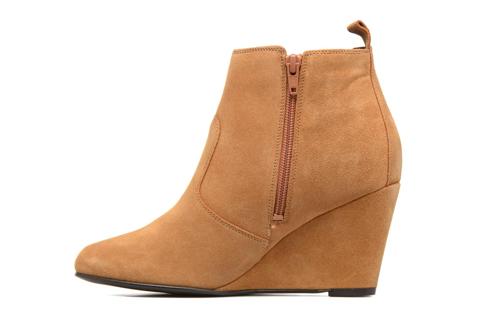 Bottines et boots Vero Moda Lone Leather Wedge Boot Marron vue face