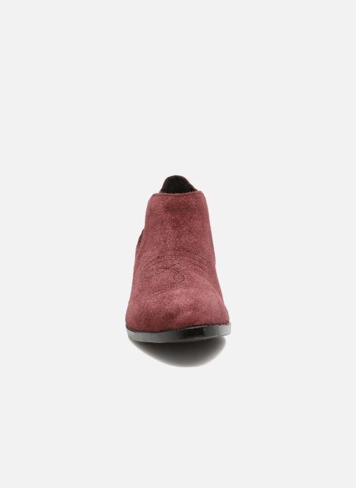 Bottines et boots Vero Moda Western Leather Low Boot Bordeaux vue portées chaussures