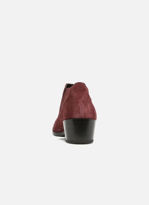 Bottines et boots Vero Moda Western Leather Low Boot Bordeaux vue droite
