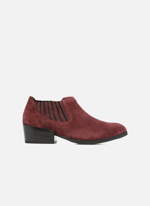 Bottines et boots Vero Moda Western Leather Low Boot Bordeaux vue derrière