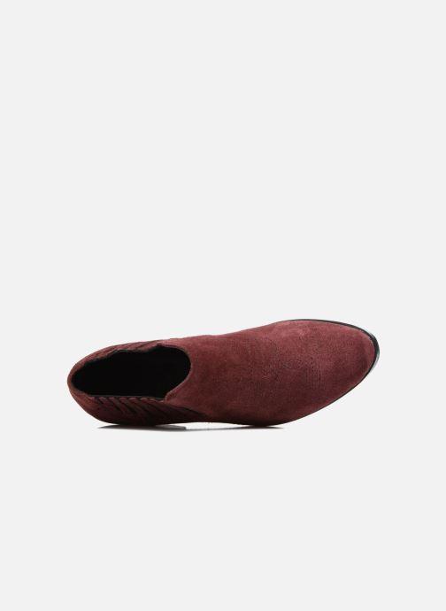 Bottines et boots Vero Moda Western Leather Low Boot Bordeaux vue gauche