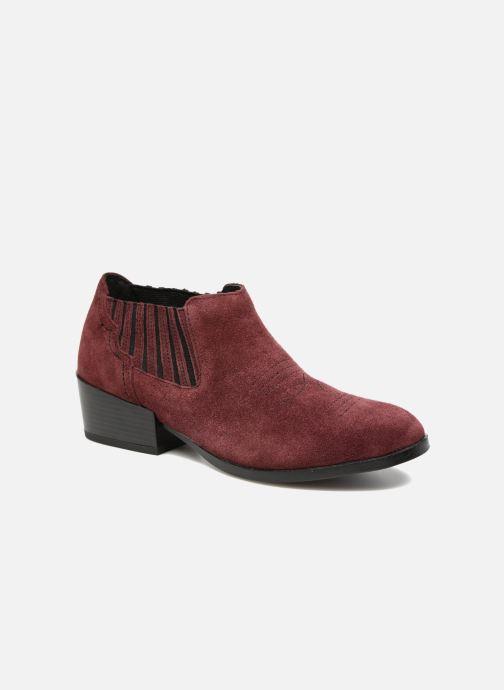 Bottines et boots Vero Moda Western Leather Low Boot Bordeaux vue détail/paire