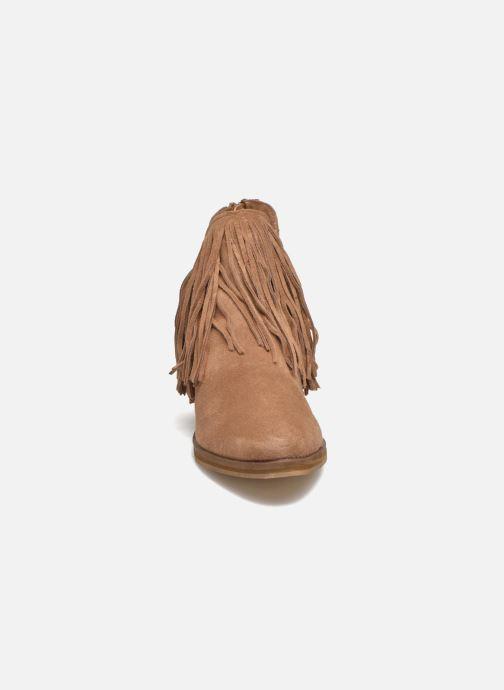Bottines et boots Vero Moda Laure Leather Boot Marron vue portées chaussures