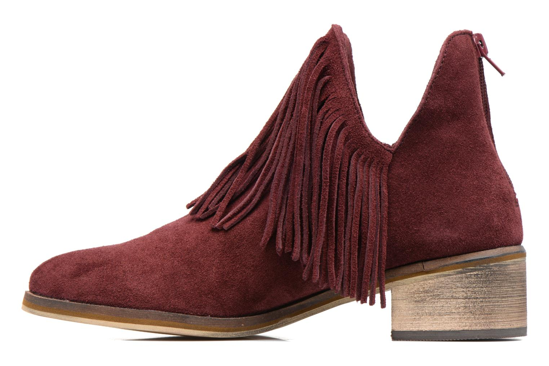 Bottines et boots Vero Moda Laure Leather Boot Bordeaux vue face