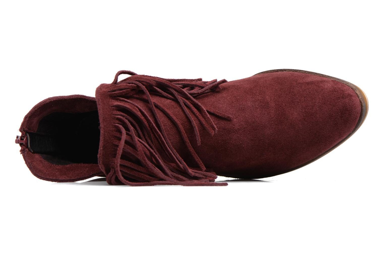 Bottines et boots Vero Moda Laure Leather Boot Bordeaux vue gauche