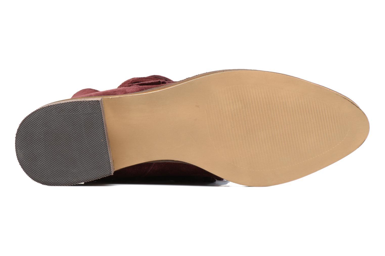 Bottines et boots Vero Moda Laure Leather Boot Bordeaux vue haut