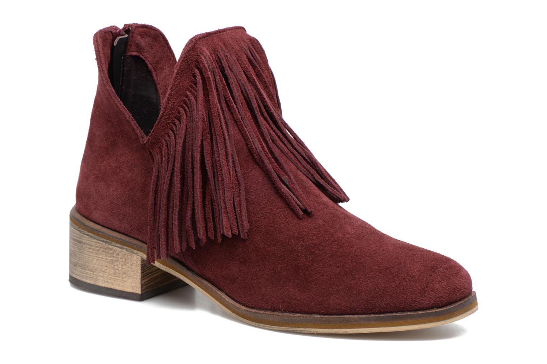 Bottines et boots Vero Moda Laure Leather Boot Bordeaux vue détail/paire